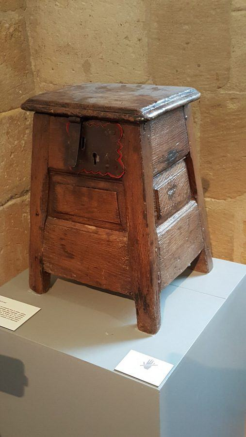 Salt stool at the Musee de Douanes in Bordeaux