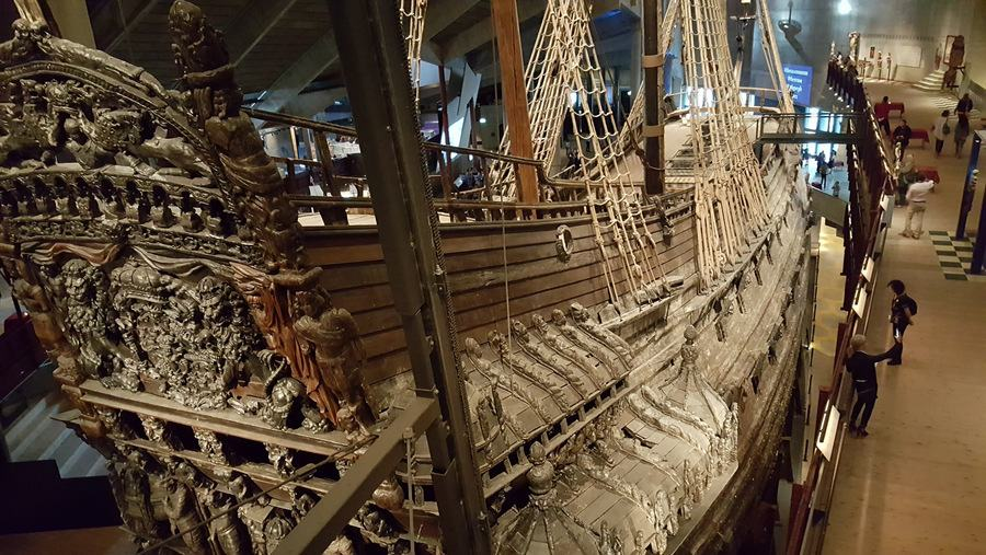 Vasa from high on starboard quarter