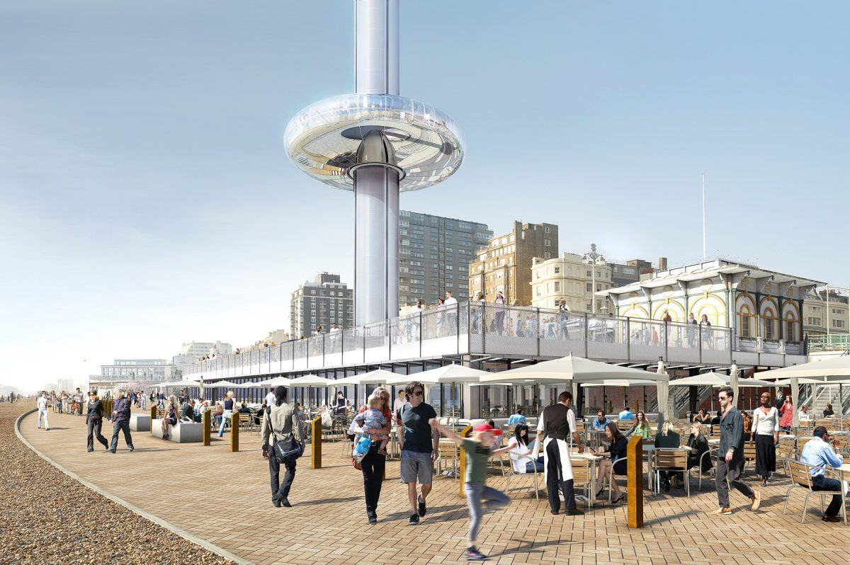 British Airways i360 observation tower beach building