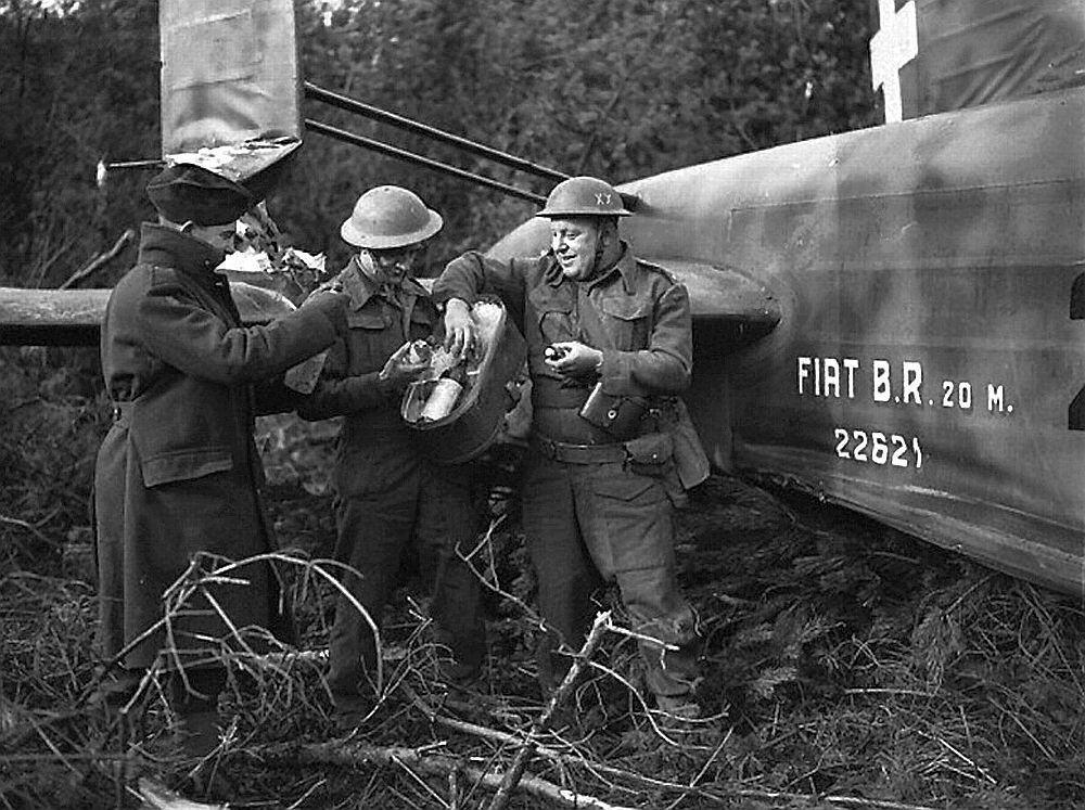 Fiat BR.20 wreckage