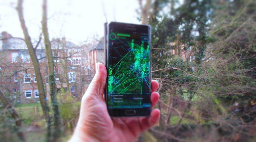 Ingress on a smartphone
