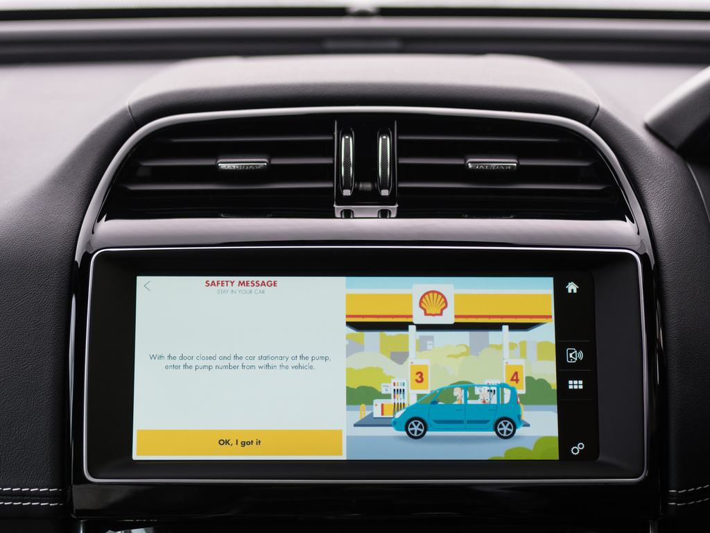 Jaguar touchscreen Shell app
