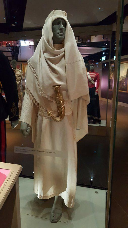 Lawrence of Arabia robes & dagger at NAM London