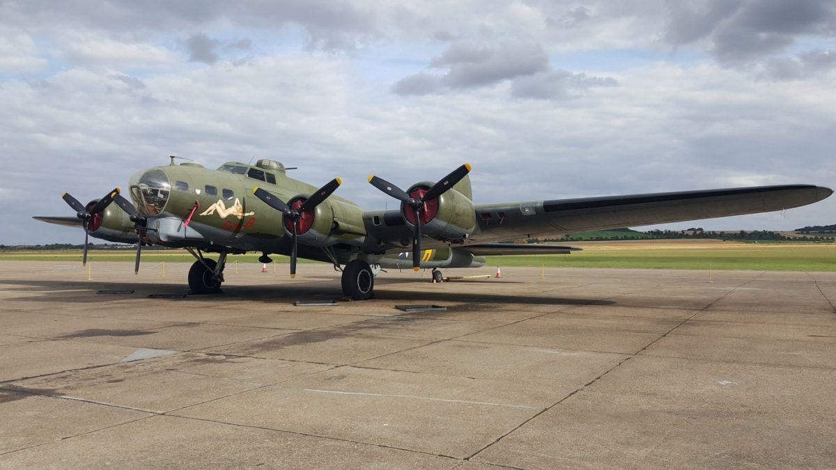 B-17 on the tarmac at Duxfield