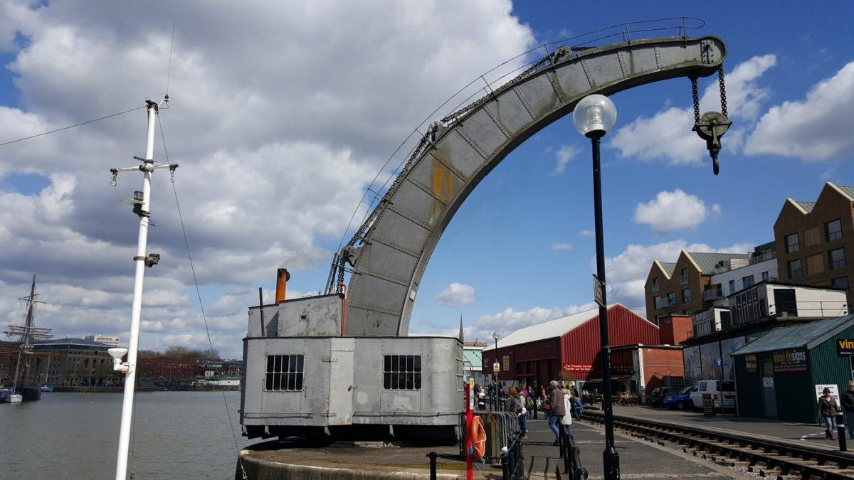 steam crane at Bristol docks