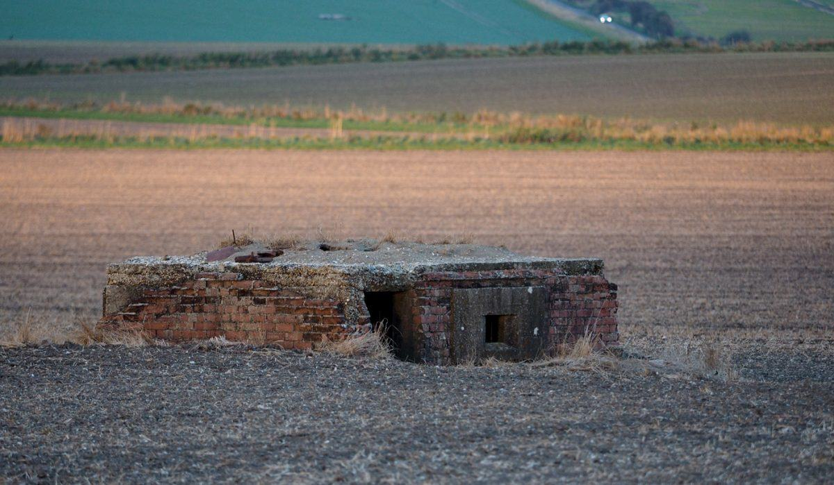 Pillbox in evening light