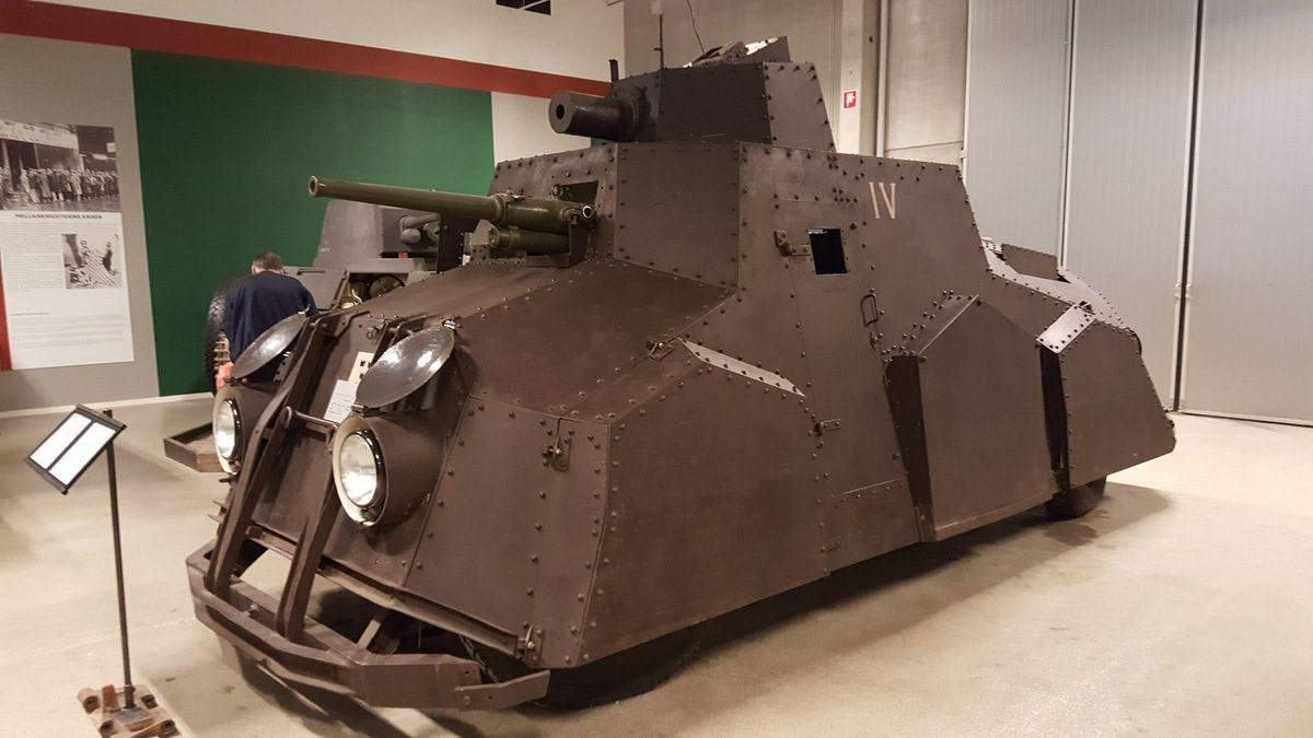 Pansarbil FM29 armoured car in Swedish tank museum