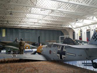 Messerschmitt bf-109 in a diorama at IWM Duxford