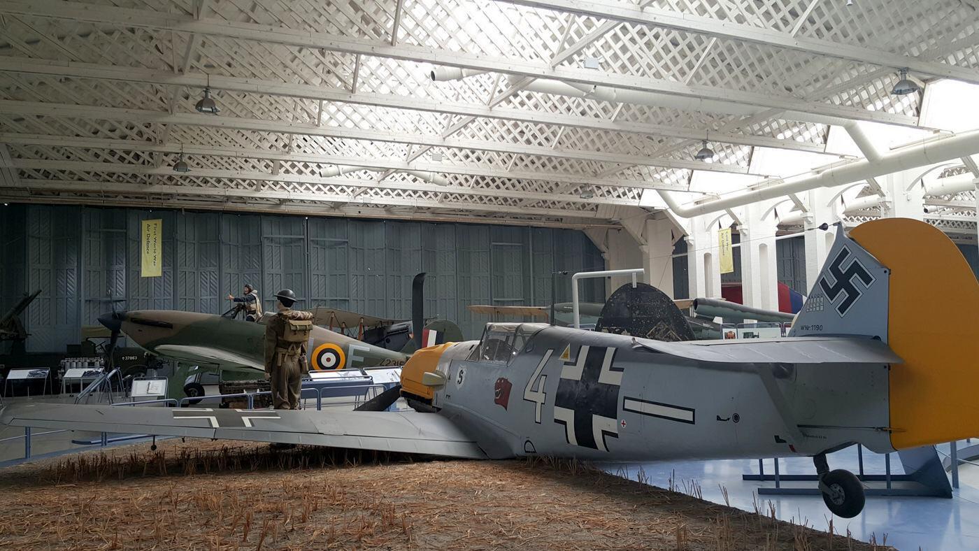 Messerschmitt bf-109 in a diorama at IWM Duxford