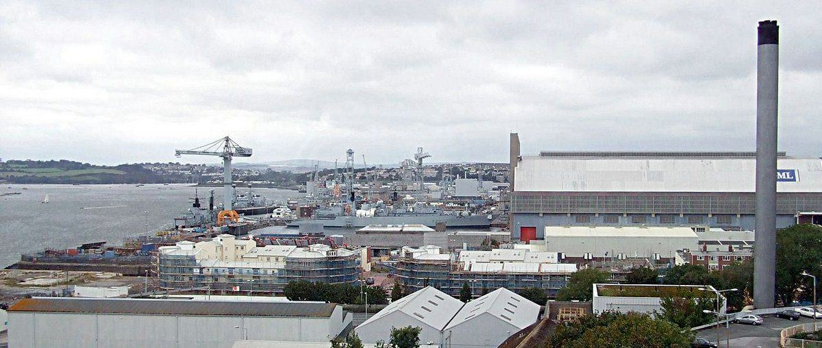View over the naval dockyard at Plymouth