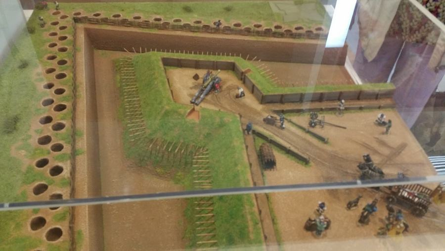Display model of Newark's civil war fortifications