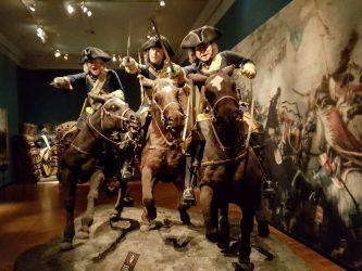 An 18th century cavalry charge at the Army Museum, Stockholm