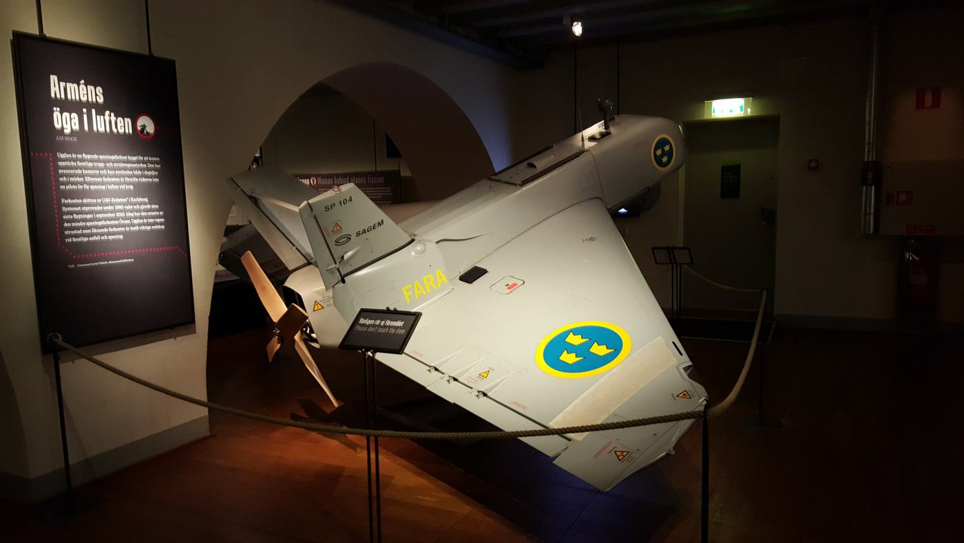 Reconnaissance drone in the Army Museum, Stockholm