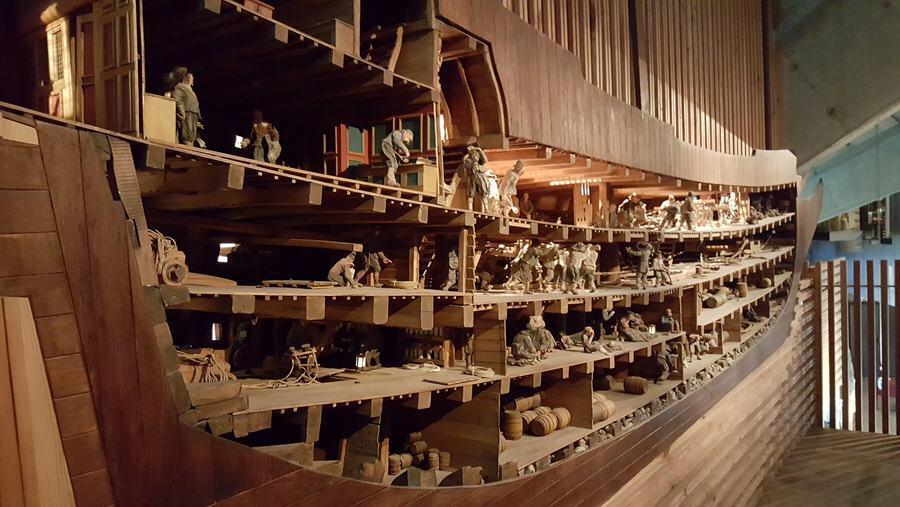 Vasa cutaway model