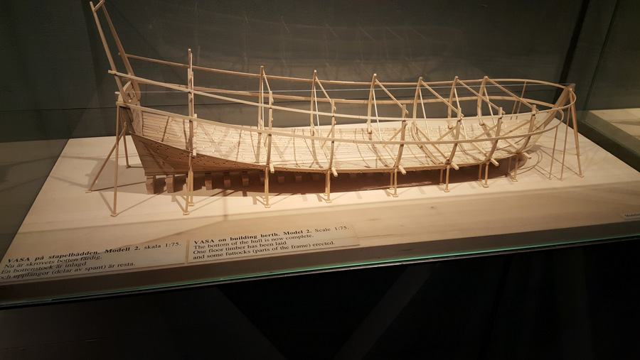 Model of Vasa construction stage