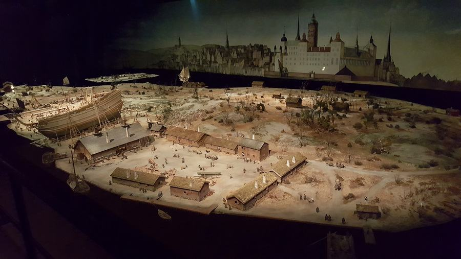 Model of Vasa shipyard