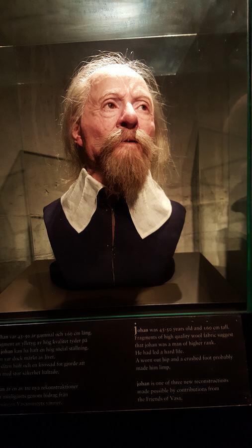 Recostructed face of a Vasa crew member