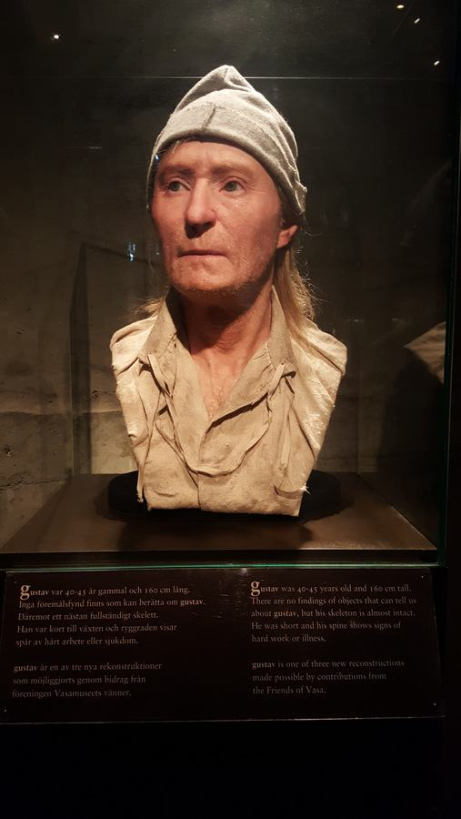 Facial reconstruction of a Vasa crew member