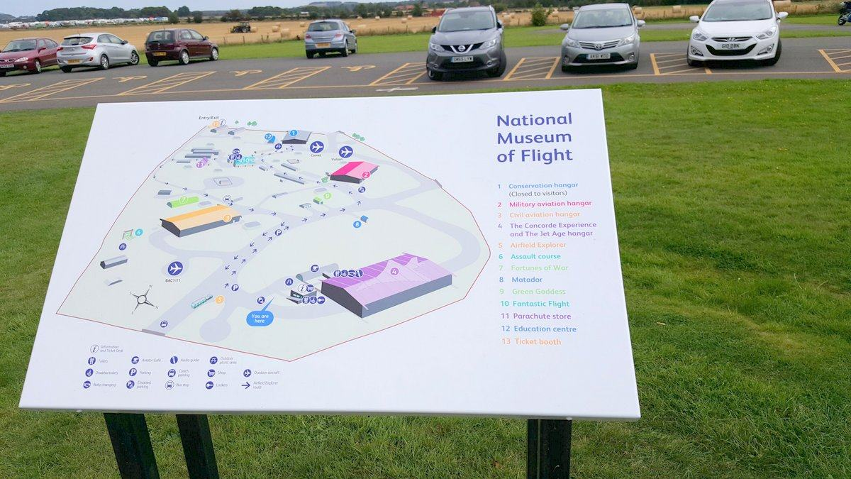 Map of the airfield