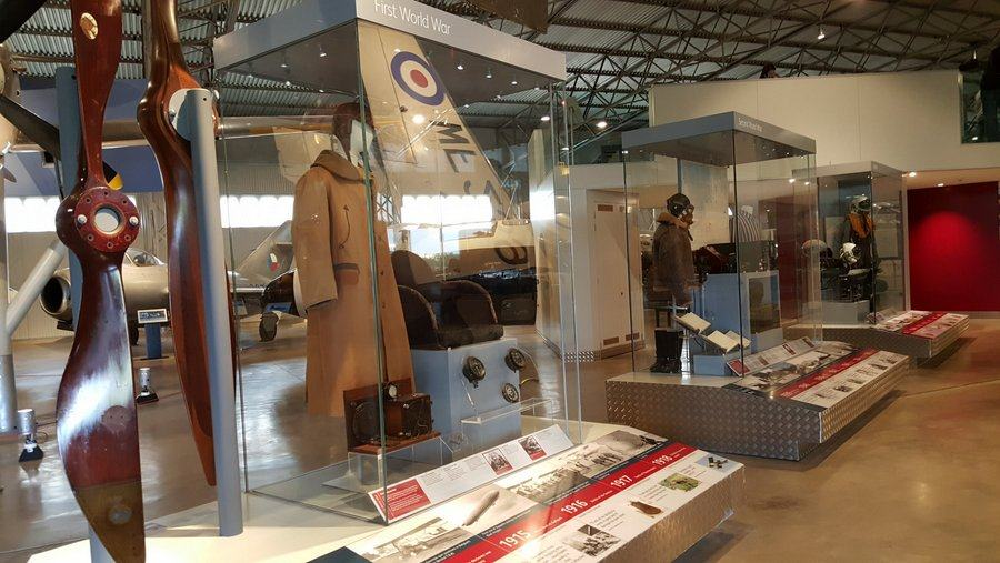 Airmans' equipment museum display