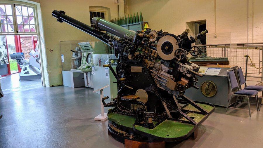 Complex gun on a stand