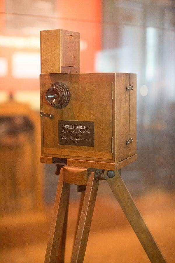 Lumière Cinematograph camera on display at Musee Lumière