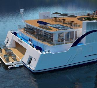 Design image of stern of AMAMagna