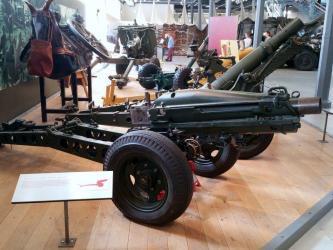 Museum exhibit 75mm Airborne M1A1 Pack Howitzer (1942)