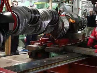 MS cruise ship engine crankshaft replacement
