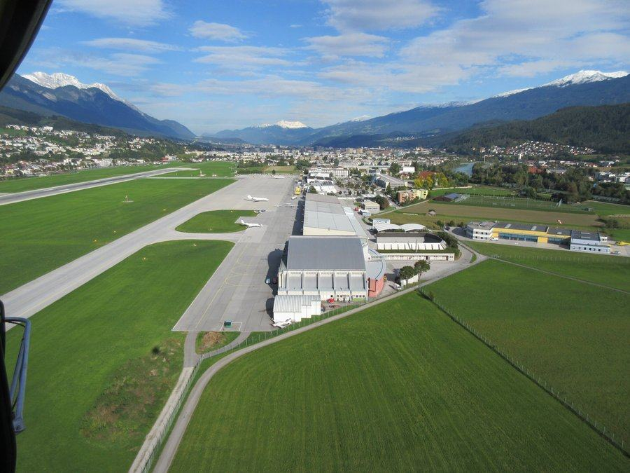 aerial view of Innsbruck Airport