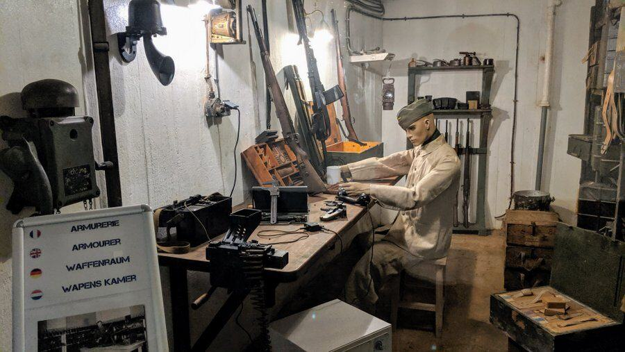 Diorama of German armourer in his workshop