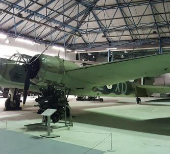 Bristol Blenheim twin-engine light bomber in green camouflage