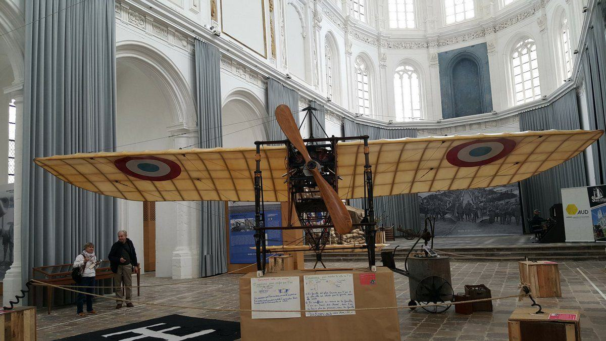 Lifesize replica of a Bleriot XI 1912 monoplane