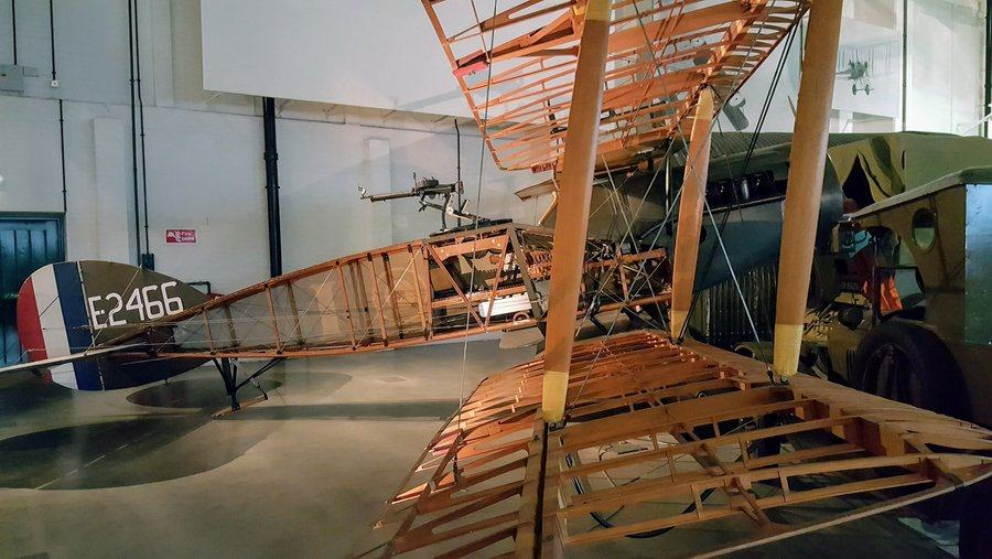 Cutaway biplane showing all the ribs & controls