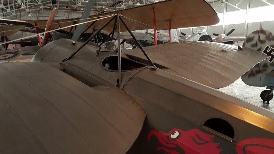 Bristol M1c2 cockpit