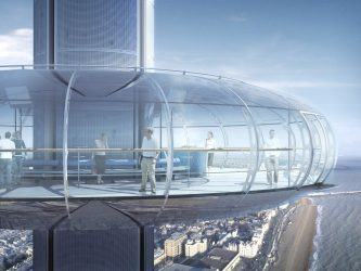 Artists impression of British Airways i360 passenger pod from exterior