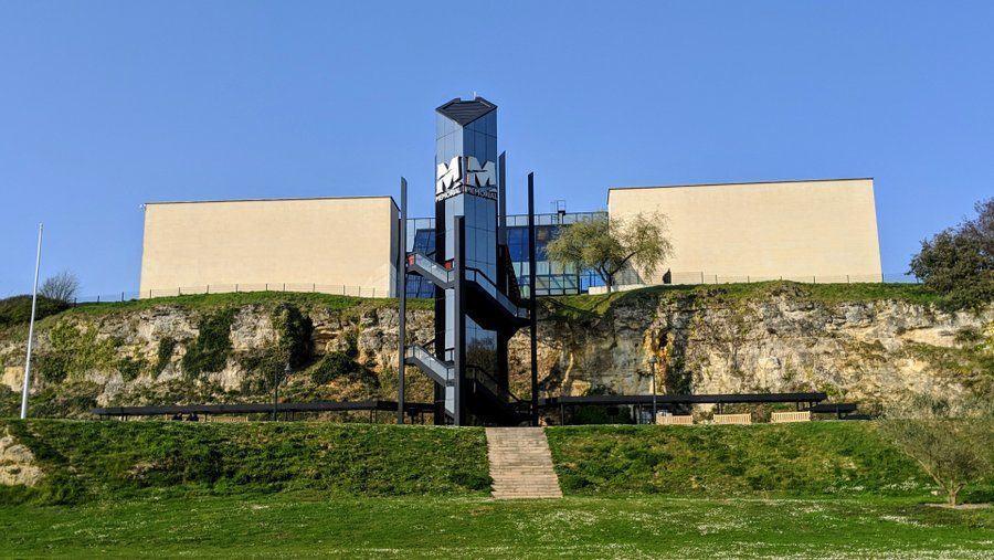 Caen Memorial building on the cliff top