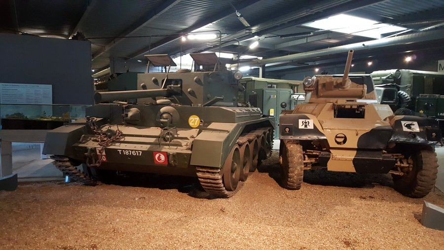 Centaur comms tank and Daimler Mk1 scout car