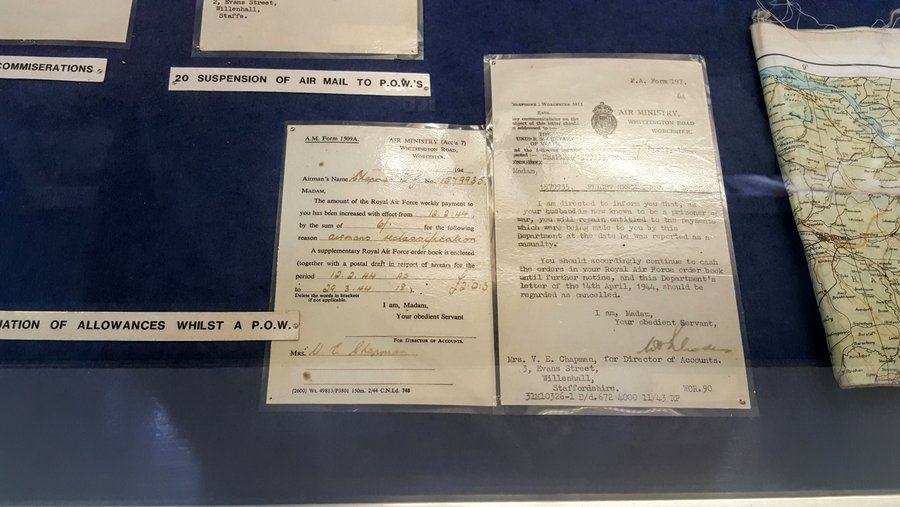 Air Ministry letters to Mrs Chapman at RAF Cosford museum