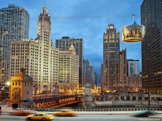 Artists impression of Chicago cable car pods