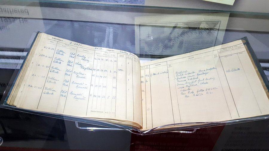 Sir Alan Cobham's logbook