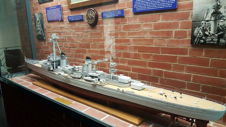 Model of the French heavy cruiser 'Colbert'