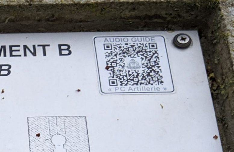 Close up of a QR code