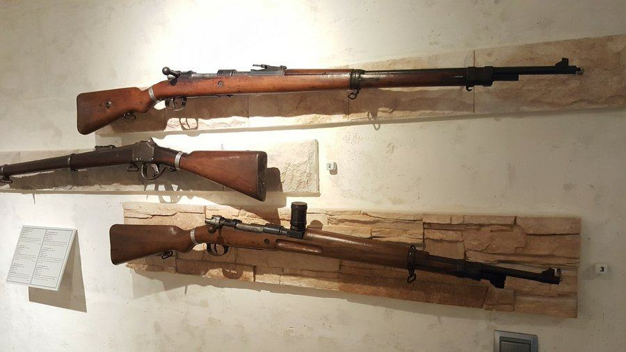 Rifles on display at the Menorca Military Museum