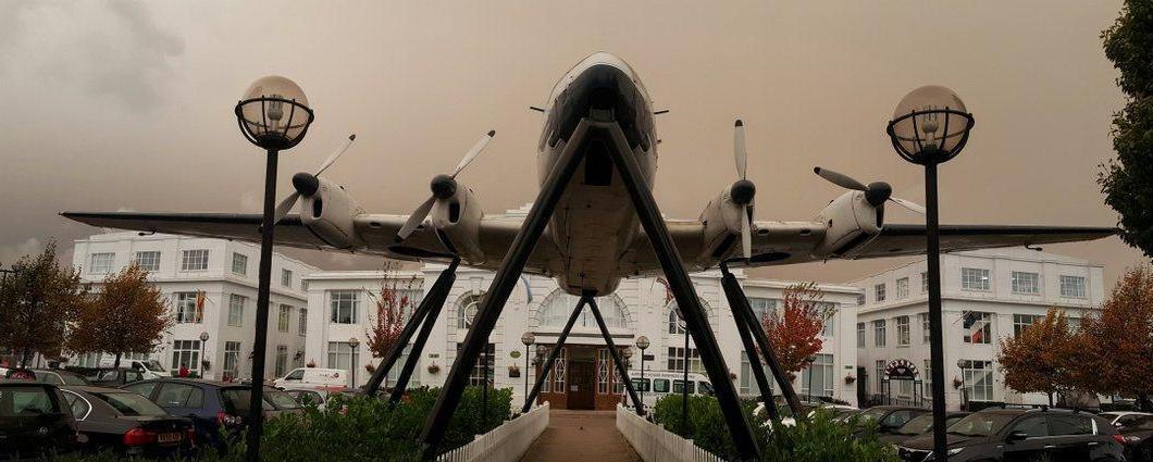 De Havilland Dove at Croydon Airport