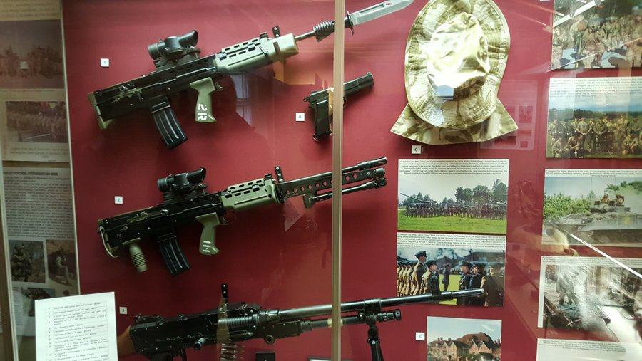 Rifles at the Berkshire and Wiltshire regimental museum, Salisbury