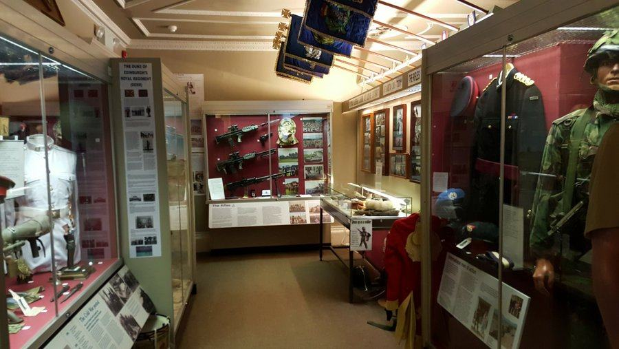 Gallery at the Berkshire and Wiltshire regimental museum, Salisbury