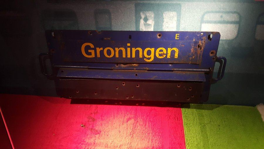 Metal 'Groningen' destination board