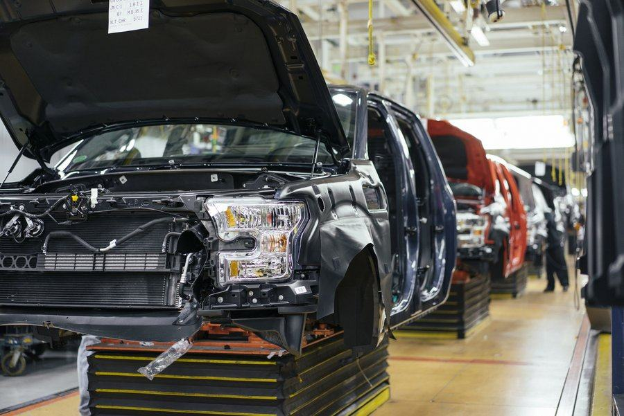 Ford pickup truck assembly line