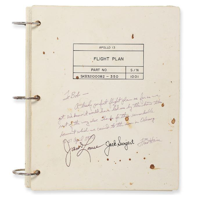 Apollo 13 Flight Plan cover